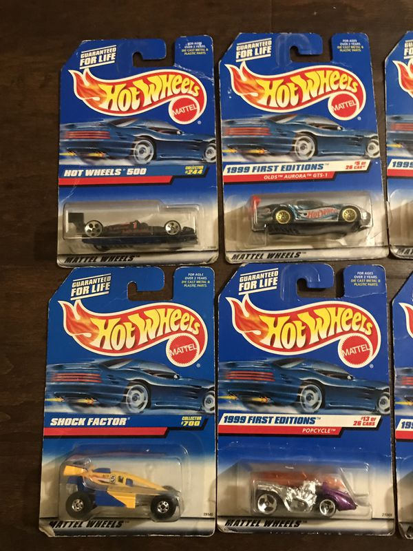 Hot Wheels bundle of new old stock cars from 1998/1999