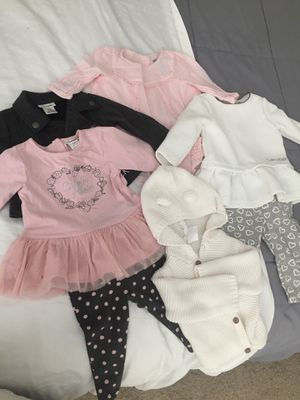 Calvin Klein, Baby Gap, and Carters brand Girls Clothing 3-6 Months for Sale in Clermont, FL