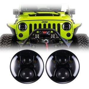 Jeep Wrangler Halo LED Headlights 1997-2018 - Split Amber Halo (Pair) for Sale in Buena Park, CA