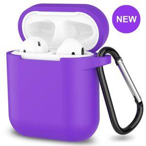 AirPods Silicone Case 1& 2 + Keychain Protective Case Color purple for Sale in Burlington, VT