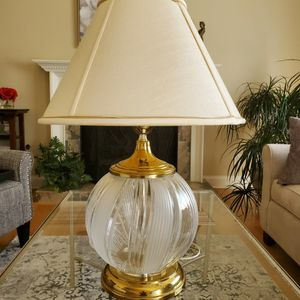 Gorgeous Etched Glass Lamp for Sale in Alpharetta, GA
