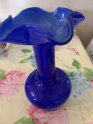 Vintage cobalt blue glass flower vase for Sale in Corona, CA
