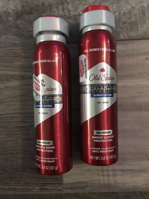 Old spice sweat defense dry spray $3 each for Sale in San Bernardino, CA