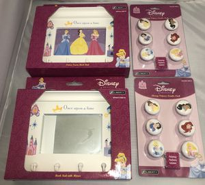 2 Disney Princess Hook w/Mirror and 2 Knobs for Sale in Fort Washington, MD