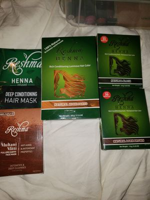 New 5 reshma henna hair & face products for Sale in Scottsdale, AZ