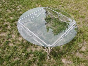 Iron Base Glass Coffee Table (If posted, it's Available) for Sale in Leavenworth, WA
