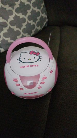 hello kitty CD player am/FM I mainly use it in the kitchen its sounds really good playing music I connect my phone to it for Sale in Fort Washington, MD