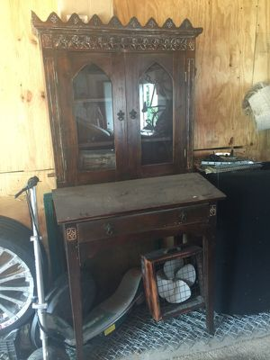 Antique cabinet real wood for Sale in Chicago, IL