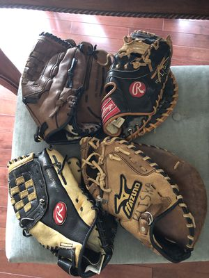 Baseball Mits - Rawlings, Mizuno and Glovesmith for Sale in Leesburg, VA