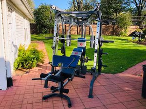Smith Machine - Squat Rack - Lat Pull Down - Bench Press - Olympic Weights - Functional Trainer for Sale in Downers Grove, IL