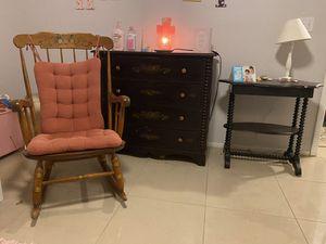 Antique 3-piece set - Dresser, Stand, Rocking Chair for Sale in Sebastian, FL