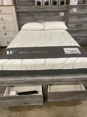 Queen Storage Bed Frame, Grey, #B221 for Sale in Santa Fe Springs, CA
