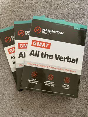 Manhattan prep GMAT books for Sale in Chicago, IL