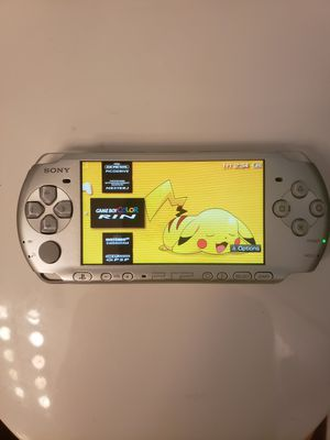 Modded PSP 3000 Silver w/ over 1000 Games (PSP, PS1, Sega Genesis, N64, Gameboy Color & Advance and Super Nintendo Games) for Sale in Riverside, CA