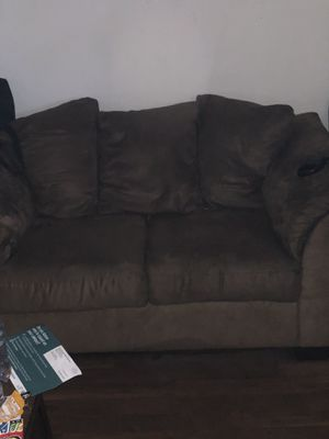 Brown couch for Sale in Winter Haven, FL