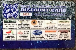 Discount school cards $10 I have 4 left for Sale in Spring Hill, FL