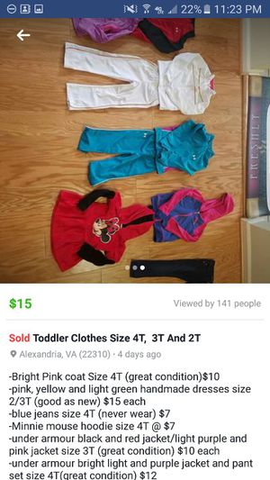 R kids clothes 3T and 4T for Sale in Alexandria, VA