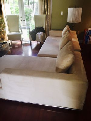 City Furniture Treated Microfiber Sectional with Coffee Table for sale-$400 for Sale in Miramar, FL