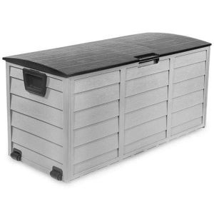 Large All-Weather UV Outdoor Patio Storage Deck Box in Gray and Black for Sale in Henderson, NV