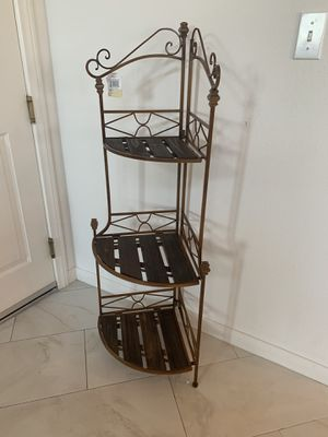 Rustic corner baker's rack $50 for Sale in San Bernardino, CA