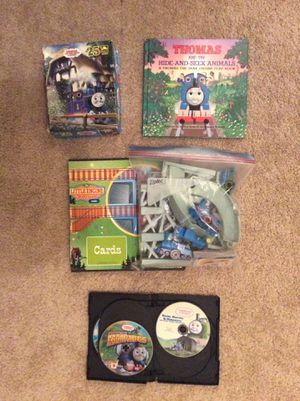 Thomas Bundle! 4DVDs, Game, FLIP Book & Puzzle for Sale in Westfield, IN