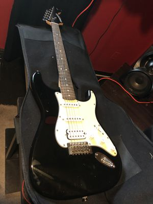 Squir Stratocaster Electric Guitar (Black) for Sale in Denver, CO