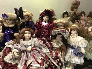 52 porcelain dolls $700 for all for Sale in Carrollton, TX
