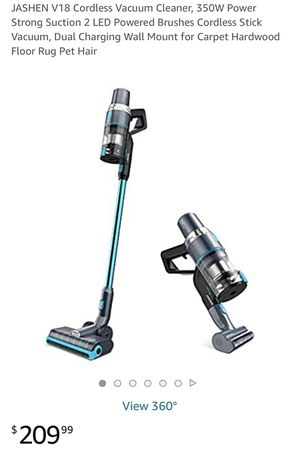 Brand New V18 Cordless Vacuum Cleaner, 350W Power Strong Suction 2 LED Powered Brushes Cordless Stick Vacuum, Dual Charging Wall Mount for Carpet Har for Sale in Pittsburgh, PA