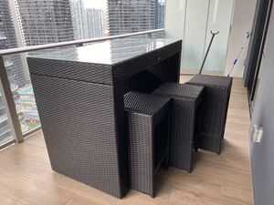 Patio - Balcony Dinning set! Table + 6 chairs for Sale in Miami, FL
