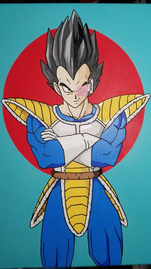 Dragon ball Z Scouter Vegeta Custom Painting Price is Firm for Sale in Santa Monica, CA