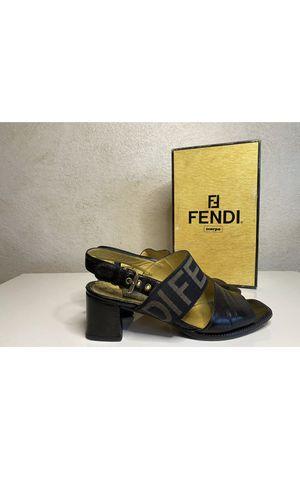Authentic Fendi women's sandales heels size 7.5 for Sale in Denver, CO
