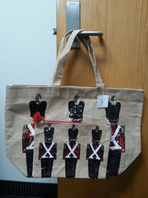 Olive & Hill Nutcracker Soldiers Burlap Totes for Sale in Garden Grove, CA