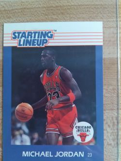 Michael Jordan Rookie Card 🐐💎🔥 1988 Starting Line Up Rare Card $1000 Pick Up $1050 Shipped Through Cash App Or Pay Pal SERIOUS BUYERS ONLY!!! for Sale in Pomona,  CA