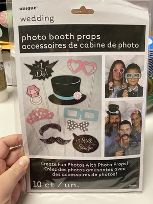 New Wedding Photo Booth Props Set 10ct! for Sale in Pittsburg, CA