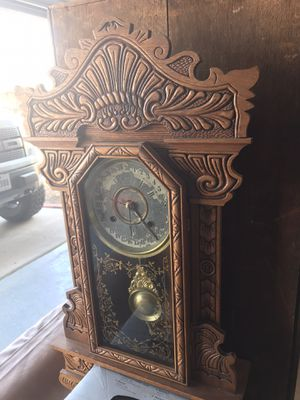 Antique mechanical wall clock for Sale in El Paso, TX