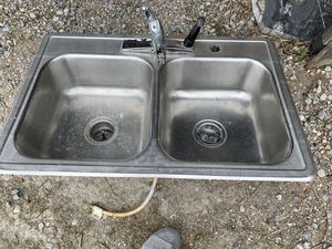 Stainless steel 50/50 sink for Sale in Tulsa, OK