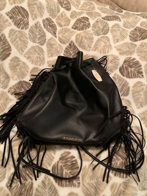 Victoria secret fringe drawstring purse for Sale in Fort Myers, FL