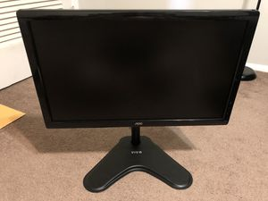 """AOC 24"""" monitor + Monitor Stand for Sale in Huntington, WV"""