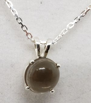 Natural Round Smoky Quartz Silver Necklace for Sale in Justin, TX