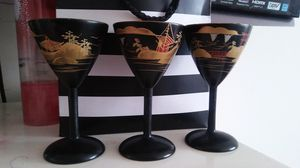 Wood cups painted with Chinese paintings for Sale in Richmond, VA