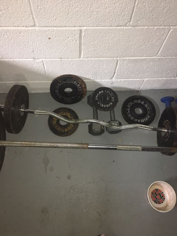 Marcy Olympic 2 Piece Weight Set