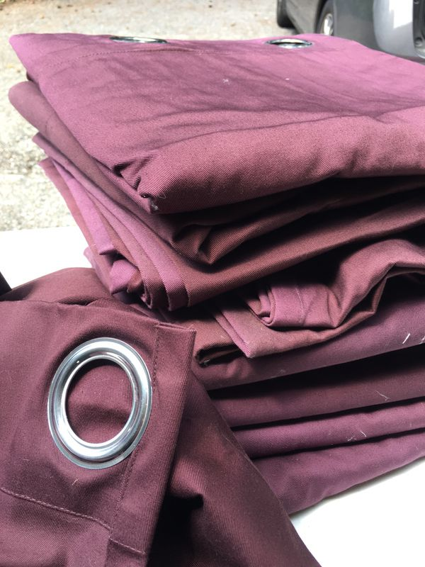 IKEA Merete burgundy grommet curtain panels - 10, SOLD Pending Pick Up