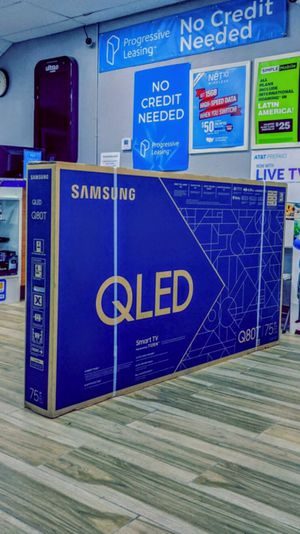 Samsung 75 inch Class - QLED Q80T Series - 4K UHD TV - Smart - LED - with HDR! Brand New in Box! Retails for $2599+Tax !! $50 DOWN / $50 WEEKLY !! for Sale in Arlington, TX