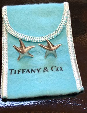 Authentic! Beautiful RARE Tiffany & Co. Sterling Silver Elsa Peretti Small Starfish Stud Earrings. Great gift! for Sale in Tolleson, AZ