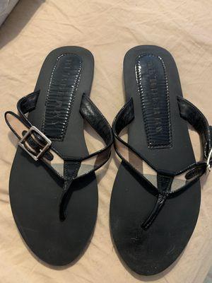 Burberry sandals size 40 us 9.5 for Sale in La Puente, CA