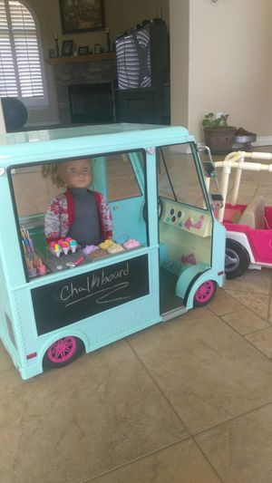 American Girl scale Ice Cream truck and Jeep for Sale in Hesperia, CA