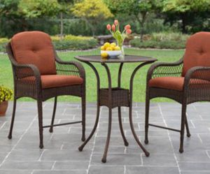 New!! 3 pc bistro bar Patio set, conversaion set, outdoor set, Patio Furniture , orange for Sale in Phoenix, AZ
