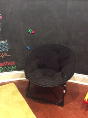 Kids puffy black chair for Sale in Downers Grove, IL