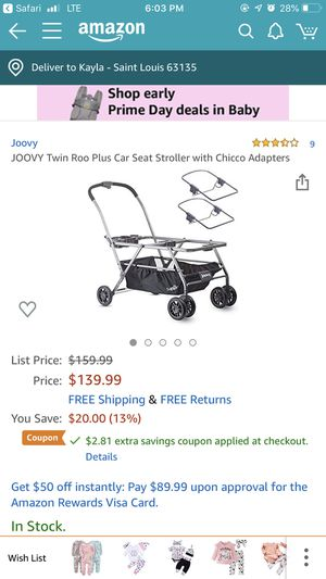 Joovy double stroller for Sale in Florissant, MO