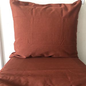 Sunbrella Fabric Brick Red Back and Seat Zippered Cover Set for Sale in Covina, CA